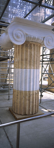 Column in the Acropolis, Athens, Greece by Panoramic Images