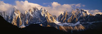 Snowcapped mountain peaks, Dolomites, Italy von Panoramic Images