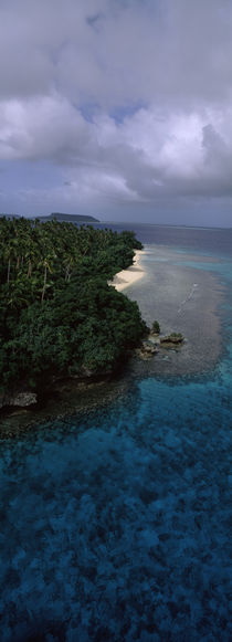 Aerial view of a coastline, Vava'u, Tonga, South Pacific by Panoramic Images