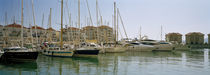 Yachts and boats moored at the marina, Queensway Quay Marina, Gibraltar by Panoramic Images