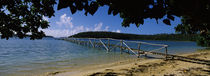 Wooden dock over the sea, Vava'u, Tonga, South Pacific by Panoramic Images