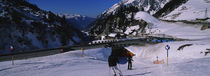 Tourists skiing on snow, Stuben, Austria von Panoramic Images