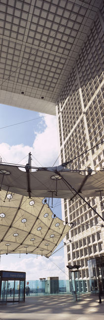 Canopy under an arch, Grande Arche, La Defense, Paris, Ile-de-France, France by Panoramic Images