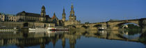 Reflection Of Buildings On Water, Elbe River, Dresden, Germany von Panoramic Images