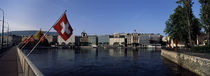 Buildings at the waterfront, Geneva, Switzerland by Panoramic Images