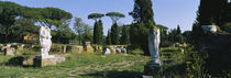 Ruins of statues in a garden, Ostia Antica, Rome, Italy by Panoramic Images