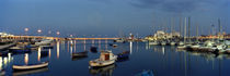 Boats at a harbor, Bari, Itria Valley, Puglia, Italy von Panoramic Images