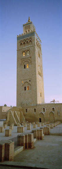 Low angle view of a minaret, Koutoubia Mosque, Marrakech, Morocco by Panoramic Images