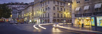 Traffic on a road, Praca de Figueira, Lisbon, Portugal by Panoramic Images