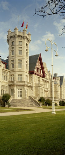 Facade of a palace, Palacio De La Magdalena, Santander, Cantabria, Spain by Panoramic Images