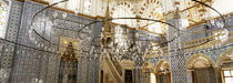 Interiors of a mosque, Rustem Pasa Mosque, Istanbul, Turkey von Panoramic Images