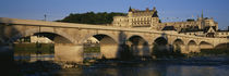 Arch Bridge Near A Castle, Amboise Castle, Amboise, France by Panoramic Images