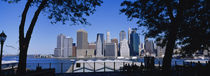 Skyscrapers on the waterfront, Manhattan, New York City, New York State, USA by Panoramic Images