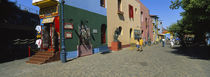 Multi-Colored Buildings In A City, La Boca, Buenos Aires, Argentina von Panoramic Images
