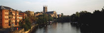 Church Along A River, Worcester Cathedral, Worcester, England, United Kingdom by Panoramic Images