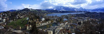 High angle view of a city, Chateau Gutsch, Lucerne, Switzerland von Panoramic Images