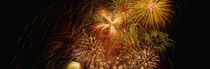 Fireworks exploding at night, Luxembourg von Panoramic Images