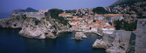 Town at the waterfront, Lovrijenac Fortress, Bokar Fortress, Dubrovnik, Croatia by Panoramic Images