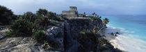 Castle on a cliff, El Castillo, Tulum, Yucatan, Mexico von Panoramic Images