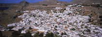 High angle view of a town, Lindos, Rhodes, Greece by Panoramic Images