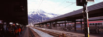 Passengers at a railroad station, Innsbruck, Tyrol, Austria by Panoramic Images