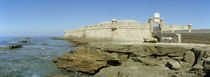 Castle at the coast, San Sebastian Castle, Cadiz, Andalusia, Spain von Panoramic Images