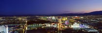 Cityscape at night, The Strip, Las Vegas, Nevada, USA by Panoramic Images