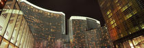 Skyscrapers lit up at night, Citycenter, The Strip, Las Vegas, Nevada, USA von Panoramic Images
