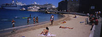 Tourists on the beach, Rhodes, Greece by Panoramic Images