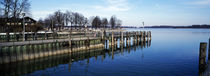 Pier over a lake, Lake Chiemsee, Bavaria, Germany von Panoramic Images