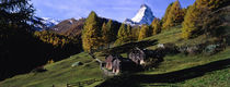 Low angle view of a mountain peak, Matterhorn, Valais Canton, Switzerland von Panoramic Images