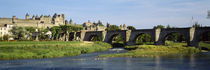 Bridge across a river, Aude River, Carcassonne, Languedoc, France by Panoramic Images