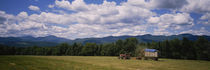 Tractor on a field, Waterbury, Vermont, USA von Panoramic Images