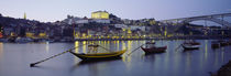 Boats In A River, Douro River, Porto, Portugal von Panoramic Images