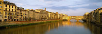 Bridge across a river, Ponte Vecchio, Arno River, Florence, Tuscany, Italy by Panoramic Images