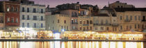 Bars on the waterfront, Crete, Greece von Panoramic Images