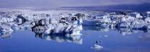 Breidamerkursandur, Jokulsarlon Glacial Lagoon, Vatnajokull, Iceland von Panoramic Images