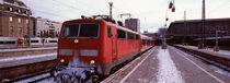 Train in winter at a railroad station, Innsbruck, Tyrol, Austria von Panoramic Images