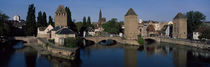 Rhine River, Bas-Rhin, Strasbourg, Alsace, France von Panoramic Images