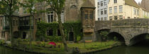 Buildings along channel, Bruges, West Flanders, Belgium by Panoramic Images