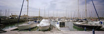 Boats moored at a harbor, Rota, Cadiz Province, Andalusia, Spain by Panoramic Images
