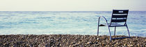 Vacant Chair On The Beach, Nice, Cote De Azur, France von Panoramic Images