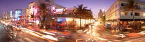 Traffic on a road, Ocean Drive, Miami, Florida, USA von Panoramic Images