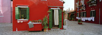 Facade of a house, Burano, Venice, Veneto, Italy von Panoramic Images