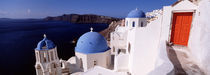 Church in a city, Santorini, Cyclades Islands, Greece von Panoramic Images