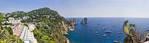 Boats in the sea, Faraglioni, Capri, Naples, Campania, Italy by Panoramic Images