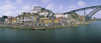 Buildings at the waterfront, Oporto, Douro Litoral, Portugal von Panoramic Images