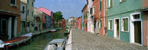 Houses along a canal, Burano, Venice, Veneto, Italy von Panoramic Images