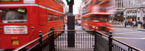 Double-Decker buses on the road, Oxford Circus, London, England von Panoramic Images
