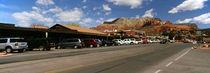 Cars parked at the roadside, Sedona, Coconino County, Arizona, USA by Panoramic Images